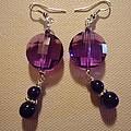 Glitter Me Purple Earrings by Jenna Green