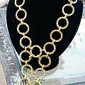 Gold Daisy Chain by Susan Geluz