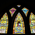 Gold Stained Glass Window by Thomas Woolworth
