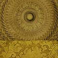 Gold Wheel I by Ricki Mountain