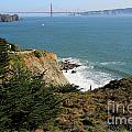 Golden Gate Bridge Viewed From The Marin Headlands by Wingsdomain Art and Photography