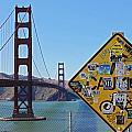 Golden Gate Stickers by Cedric Darrigrand
