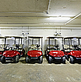 Golf Cart Parking Garage by Skip Nall