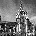 Gothic Saint Vitus Cathedral In Prague by Christine Till