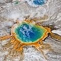 Grand Prismatic Thermal Springs Aerial Print by Paul D Stewart