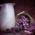 Grapes With Pitcher Still Life by Tom Mc Nemar
