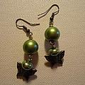 Green Butterfly Earrings by Jenna Green