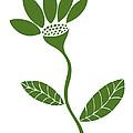 Green Flower Print by Frank Tschakert