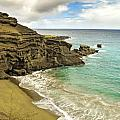 Green Sand Beach on Hawaii Print by Brendan Reals