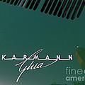 Green Volkswagon Karmann Ghia . 7D10091 Print by Wingsdomain Art and Photography