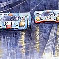 Gulf-Porsche 917 K Spa Francorchamps 1970 Print by Yuriy  Shevchuk