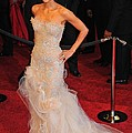 Halle Berry Wearing Marchesa Dress by Everett