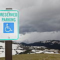 Handicap Parking Sign At A National Park by Bryan Mullennix