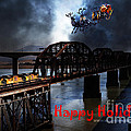 Happy Holidays - Once Upon A Time In The Story Book Town Of Benicia California - 5d18849 by Wingsdomain Art and Photography