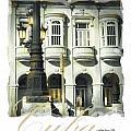 Havana Facade Print by Bob Salo