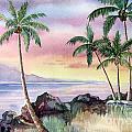 Hawaiian Sunset Print by Deborah Ronglien