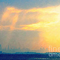 Hazy Light Over San Francisco by Wingsdomain Art and Photography