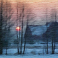 Hazy Winter Morning Print by Anthony Caruso