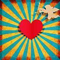 Heart And Cupid On Paper Texture by Setsiri Silapasuwanchai