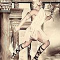 Hermes Print by Lourry Legarde