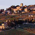Hill Town of Panzano at Dusk Print by Jeremy Woodhouse