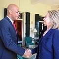 Hillary Clinton Meets With Haitian by Everett