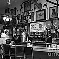 Historic Niles District In California Near Fremont . Bronco Billys Pizza Palace . 7d10707 . Bw by Wingsdomain Art and Photography