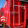 Historic Niles District In California Near Fremont . Western Pacific Caboose Train . 7d10622 by Wingsdomain Art and Photography
