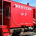 Historic Niles District In California Near Fremont . Western Pacific Caboose Train . 7d10627 by Wingsdomain Art and Photography