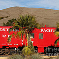 Historic Niles District In California Near Fremont . Western Pacific Caboose Train . 7d10718 by Wingsdomain Art and Photography