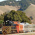 Historic Niles Trains In California . Old Southern Pacific Locomotive And Sante Fe Caboose . 7d10818 by Wingsdomain Art and Photography