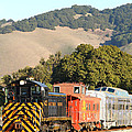 Historic Niles Trains In California . Old Southern Pacific Locomotive And Sante Fe Caboose . 7d10819 by Wingsdomain Art and Photography