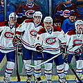 Hockey Art At Bell Center Montreal by Carole Spandau