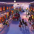 Holiday Shopper Ants by Robin Moline