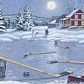 Home For Supper Print by Richard De Wolfe