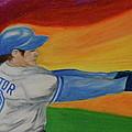 Home Run Swing Baseball Batter by First Star Art
