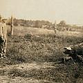 Homer Hunt Tending Pigs, Rockcastle by Everett