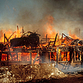 House On Fire by Photo Researchers, Inc.