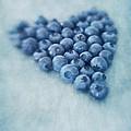 I love blueberries Print by Priska Wettstein