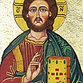 Icon Of Jesus As Christ Pantocrator by Ion vincent DAnu