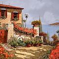 il giardino rosso Print by Guido Borelli