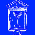 In Case Of Emergency - Drink Martini - Blue Print by Wingsdomain Art and Photography