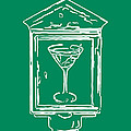 In Case Of Emergency - Drink Martini - Green by Wingsdomain Art and Photography