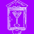 In Case Of Emergency - Drink Martini - Purple by Wingsdomain Art and Photography
