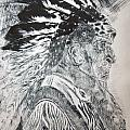 Indian Etching Print Print by Lisa Stanley