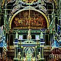 Inside St Louis Cathedral Jackson Square French Quarter New Orleans Glowing Edges Digital Art by Shawn O'Brien
