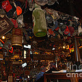 Inside The Bar In Luckenbach Tx by Susanne Van Hulst