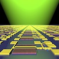 Integrated Nanowire Circuit, Artwork by Lawrence Berkeley National Laboratory