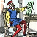 Invention Of Engraving, Medieval Europe Print by Cci Archives