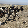 Iraqi Army Soldiers Move To Positions by Stocktrek Images